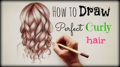 Drawing Tutorial ❤ How to draw and color Perfect Curly Hair