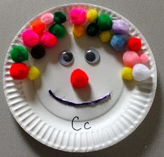 The Activity Mom: Paper Plate Craft - C is for Clown