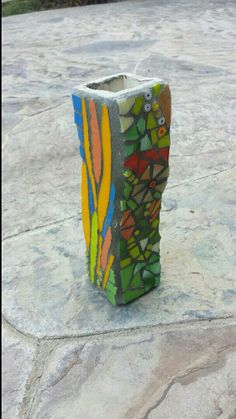 Ceramics by Desiree/Mom. Extruder piece for a garden stacker.