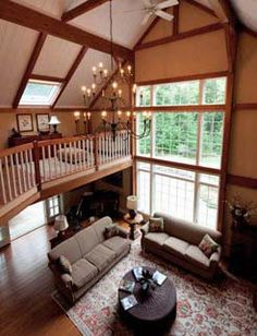 Interior of Barn House