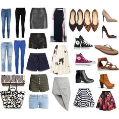Capsule Bottoms, Shoes and Bag by shetravelslight on Polyvore