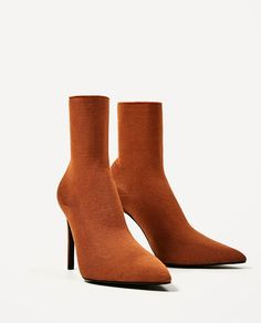 Image 4 of HIGH HEEL SOCK STYLE ANKLE BOOTS from Zara