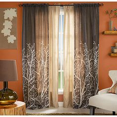 Want these for our living room > Better Homes and Gardens Arbor Springs Semi-Sheer Window Panel Living Room Paint, My Living Room, Living Room Decor, Interior Paint Colors, Interior Design, Interior Painting, Patio Door Curtains, Balcony Door, Tree Curtains