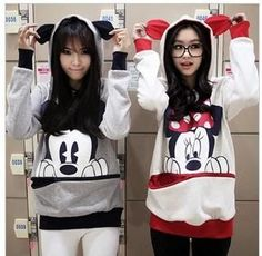 Minnie Mickey Mouse Ear 3D Hoodie Sweater