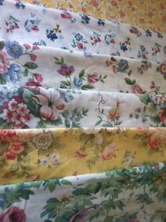 Shabby Chic, Floral, Vintage Table Linens, Cloth Napkins, by CHOW with ME by CHOWwithMe on Etsy
