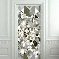 Door cover STICKER poster diamond rhinestone crystal film 30x79""
