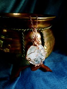 Full Moon Large Quartz Necklace by EireCrescent on Etsy, $24.99