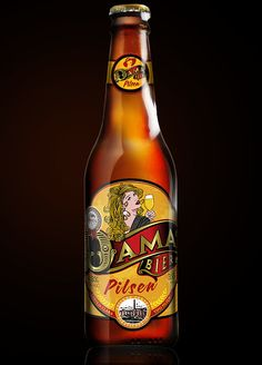 Dama Bier Pin Ups Series by celso caramalac, via Behance