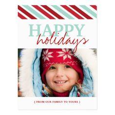 Fun Happy Holidays Photo Postcards - postcard post card postcards unique diy cyo customize personalize