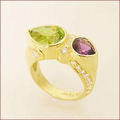 Amethyst & Peridot Ring