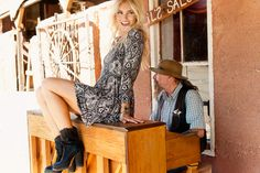 Mumu Outlaws ~ Holiday/Resort 2014 #west #western #editorial #inspo #ideas #smile #blonde #hair #cowgirl #cowboy #boots