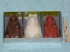 """Rare & NEW! Triple Pack HEDGEHOG Votive 3"""" CANDLES Too CUTE! Hand Poured Wax"""