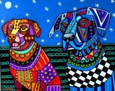 50 Off Today  Lab Art Labrador Retriever Art by HeatherGallerArt, $10.00