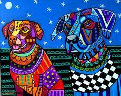 8x10 Dog Art  Lab Art Labrador Retriever Art by HeatherGallerArt, $16.00