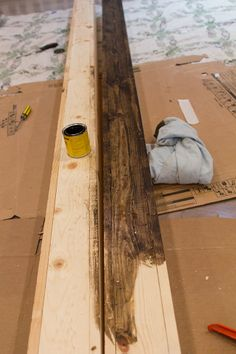 How to DIY A Faux Wooden Ceiling Beam   DIY   Pinterest   Ceiling     Kitchen Chronicles  DIY Wood Beams