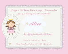 Batizado Menina Convite Personalizado