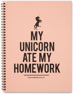 my unicorn ate my homework - Google zoeken