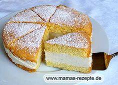 Rezept Kleine Käse- Sahnetorte auf Mamas Rezepte Homepage