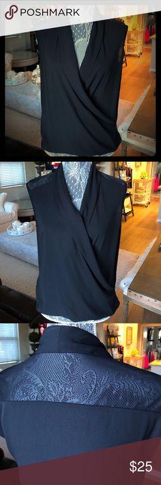 Ro & De Sleeveless Surplice Top Ro & De sleeveless surplice top in black. Size XS Ro & De Tops
