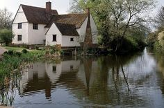 Willy Lotts cottage, a 16th-century cottage in Flatford, Suffolk, made famous by being the subject of John Constable's painting, The Hay Wain.