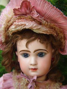 """Franz. Bisk.-Porzellan - Puppe """" Tété Jumeau """" um 1900 - 65 cm"""