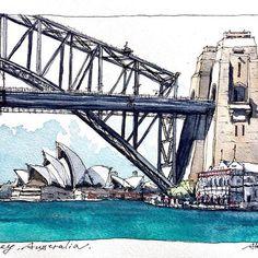 Australia 🇦🇺 - @horiaki2 • • • • • • Repost from @horiaki2 - オーストラリア・シドニー -- Sydney , Australia 🇦🇺#水彩画 #透明水彩 #スケッチ #watercolor #watercolour#watercolorsketch #watercolorpainting#urbansketch #urbansketching#urbansketchers #travelsketch #usk#archisketcher #drawingsketch #australia #sydney #art #artist #artwork #artiste #artgallery #artoftheday #picsart #painting #galleryart #instaart #sketchbook #sketchwalker #traveldiary #watercolor
