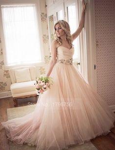 Risultati immagini per vestiti da sposa color pesca