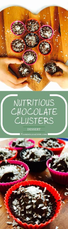 Learn to quickly prepare these delicious chocolate clusters, an energy treat boosted by the healthy chlorella powder.