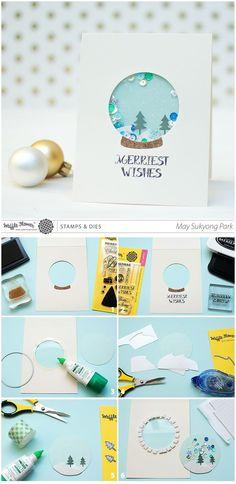 Snow Globe Shaker Cards