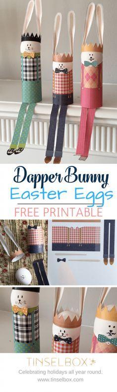 Dapper Bunny Easter Printables