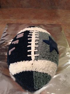 I'm inspired for a super bowl themed football cake. Dallas Cowboys Birthday Cake, Cowboy Birthday Cakes, Dallas Cowboys Party, Football Birthday Cake, Cowboy Cakes, Themed Birthday Cakes, Birthday Boys, Husband Birthday, Birthday Ideas