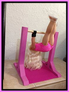 """Universal Hand GRIPS for Gymnastics Kip Bars/Uneven Bars for McKenna, American Girl, ANY 18"""" Inch Dolls"""