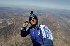 He's going to free fall 25,000 feet into a net