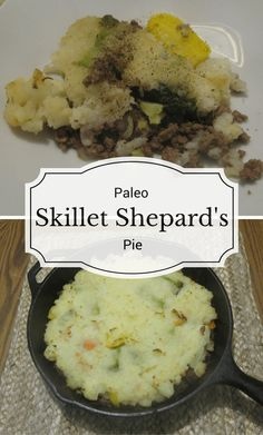 This paleo skillet shepard's pie is an easy to make dinner that tastes incredible!