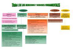Título I de la Constitución: De los Derechos y Deberes Fundamentales Chart, Education, Tips, Snoopy, Study Tips, Onderwijs, Learning, Counseling