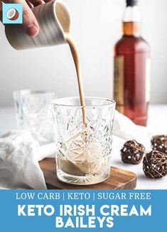 Homemade Baileys Irish cream is actually really easy to make, even without using condensed milk. This keto baileys copy cat recipe tastes amazing. Alcoholic Coffee Drinks, Baileys Drinks, Baileys Recipes, Coffee Cocktails, Beverages, Liquor Drinks, Fun Drinks, Yummy Drinks, Irish Cream Drinks