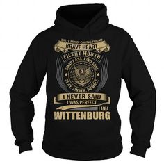 Good buys I Love WITTENBURG Hoodies Sweatshirts - Cool T-Shirts