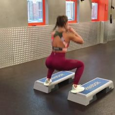 Give your whole body a blast with this Meggan Grubb workout. (1 Alternate Push up Plank into Squat 2 Sumo Squat into Curtseys 3 Scissor Legs Across Box)