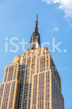Facade of Empire State Building royalty-free stock photo
