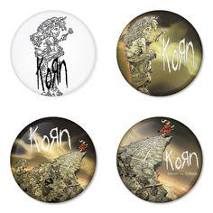 "KORN 1.75"" Badges Pinbacks, Mirror, Magnet, Bottle Opener Keychain http://www.amazon.com/gp/product/B00D6MYTNI"
