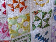 Dear Jane Quilt made by Gwen and Quilted by Judi of Green Fairy Quilts.  Amazing!
