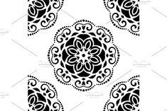 Oriental vector pattern with damask, arabesque and floral elements. Damask Patterns, Victorian Design, Arabesque, Vector Pattern, Abstract Backgrounds, Oriental, Floral, Flowers, Flower
