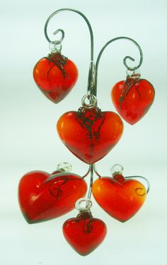 Mexican Art: Glass Hearts