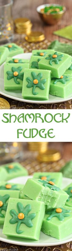 Shamrock Fudge - minty green fudge for St. Patrick's Day! | From candy.about.com