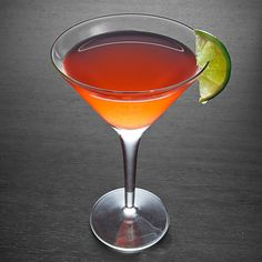 Dieci E Lode. .5 oz Campari, 2.5 oz Gin, 1.5 oz Grapefruit juice.Add all the ingredients to a shaker and fill with ice. Shake well and strain into a chilled Martini glass. Garnish with a lime wedge