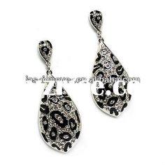 Stunning Leopard Animal Print Crystal Rhinestone Dangle Drop Earrings / China Zinc Alloy Jewelry for sale Safari Theme, Leopard Animal, Engagement Gifts, Crystal Rhinestone, Dangles, China, Drop Earrings, Crystals, Pattern