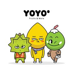 YOYOo : Fruits & More Character design. on Behance