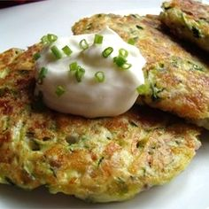 Zucchini Patties | Imagine these with a little red sauce and a sauteed chicken breast.
