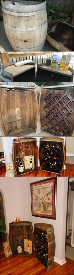 DIY Wine barrels wine holder! Dream come true! : ) Finally completed the project!