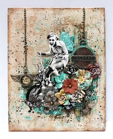 Georgia's fun, whimsical piece shows a splattering of new Micro Beads centered on her metal pieces! The gorgeous texture and dimension they add are simply brilliant.